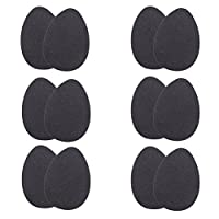 6 Pairs of Self-Adhesive High Heel Sole Protectors Rubber Anti Slip Shoe Pads Stickers Non Slip Shoe Grips for Men and Women Matte Surface (Black)
