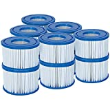 Bestway Filter Cartridge VI for Lay-Z-Spa, White and Blue, Pack of 12