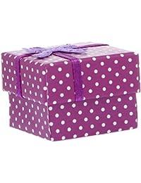 Y-BOA Lot de 4 Écrin Bague Coffret Boîte à Bijoux Pendentif Cadeau Nœud Papillon