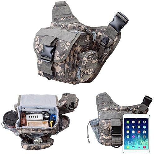 Gearmax® 600D Multifunzione Tattico Militare Dello Zaino Messenger Bag Tracolla Bag Marsupio Cameras Zaino Escursionismo Bag per Viaggiare Trekking alpinismo Camping e Altri All'aperto Sport(ACU Camo)
