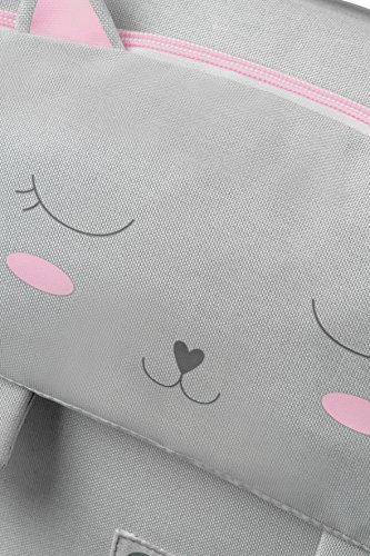 SAMSONITE Happy Sammies - Children School Bag S Cartella, 33 cm, 9 liters, Grigio (Kitty Cat)