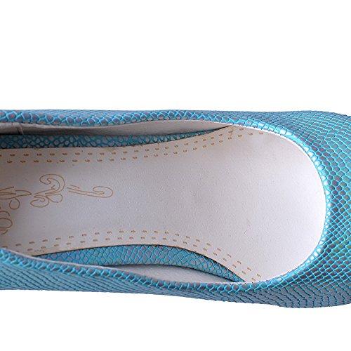 BalaMasa, punta arrotondata, motivo pitone, materiale morbido pompe-Shoes Blue