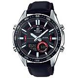 Edifice Herren Analog-Digital Quarz Uhr mit Leder Armband EFV-C100L-1AVEF