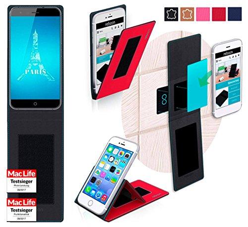 reboon Hülle für Ulefone Paris X Tasche Cover Case Bumper | Rot | Testsieger