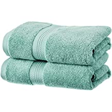 Pinzon - Juego de toallas de algodón Pima (2 toallas de mano), color verde mineral