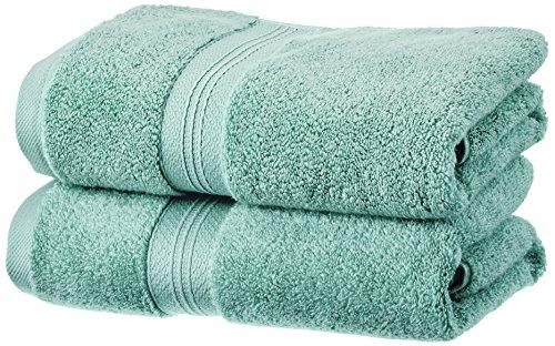 Pinzon - Set di 2 asciugamani in cotone Pima, verde minerale