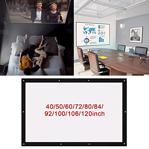 Folded Projection Screen Projector Screen Lightweight 4 3 40 72 100 106  Business Gaming 84 inch