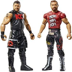 WWE - Pack de 2 figuras de acción, luchadores Kevin Owens y Sami Zayn (Mattel GBN54)