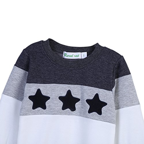 Pull-over assorti de famille,Loveble maman papa et vêtements de chandail de bébé pour des dessus de famille de cinq étoiles parent-enfant Enfant