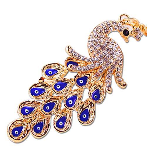 3 Pack Cute Rhinestone Colorful Peacock Schlüsselanhänger Bag Hängende Dekoration Schlüsselanhänger für Frauen Paare Handwerk gibt Hochzeits-Bightday-Favors