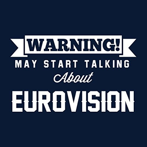 Warning May Start Talking About Eurovision Women's Hooded Sweatshirt Navy blue