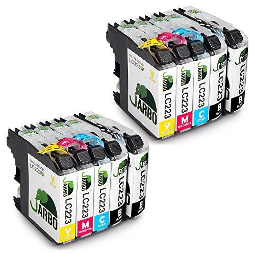 JARBO Kompatibel Brother LC223 Druckerpatronen (4 Schwarz,2 Cyan,2 Magenta,2 Gelb) Hohe Kapazität...