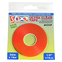 Stix2 3 mm x 15 m Ultra Clear Tape