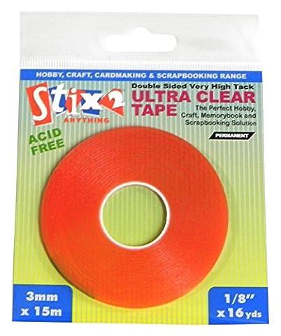 Stix2 3 mm x 15 m Ultra Clear Tape