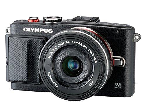 Olympus Pen E-PL6 Kamera (16,1 Megapixel, Full HD, 7,6 cm (3 Zoll) Display, WiFi) inkl. 14-42mm Pancake Objektiv/8GB Flash Air Karte schwarz