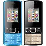 I KALL 1.8 Inch (4.57 Cm) Dual Sim Feature Phone Combo - K20 (Blue) And K25 (Black)