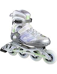 FILA® MATRIX 90 Mujer Patines en Línea | Inline Skates | Cuchillas ABEC7 | Tamaños 38.5-40 mm | Ruedas 83 mm, Fila Größe:38.5, Fila Farbe:Silver / Lilla / Green