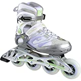 Fila MATRIX 90 Donna Pattini in Linea | Inline Skates | ABEC7 | Dimensioni 38.5-40 | Ruote di 83 mm, Größe:38.5, Farbe:Silver/Lilla / Green