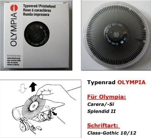 Typenrad für elektrische Schreibmaschinen OLYMPIA Schriftart: Class-Gothic 10/12