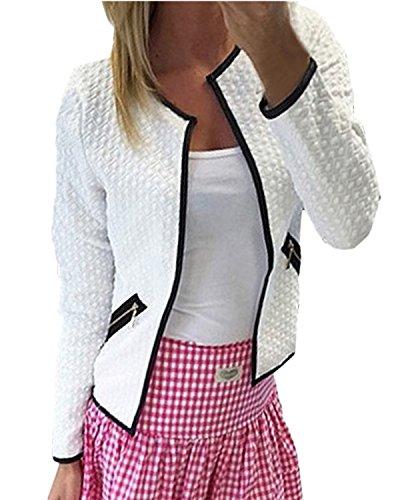 ZANZEA Women's Sexy Casual Autumn Slim Open Front Long Sleeve Jacket Tops Blazer Cardigan