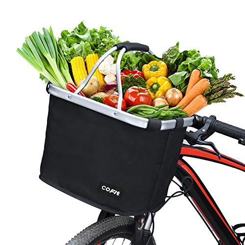 COFIT Cestello per Bici Pieghevole, Cestino per Biciclette Multiuso, Ideale Come Trasportino per Animali Domestici, Borsa della Spesa, Portaoggetti, Accessorio da Campeggio