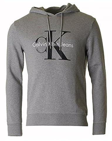 Calvin Klein True Icon Pull Over Hooded Sweat Medium GREY