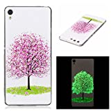 Case For Sony Xperia XA, Durable Protective Cellphone Case Slim Fit Shell Back Anti-Scratch Case Phone Cover Sony Xperia XA Cherry Tree