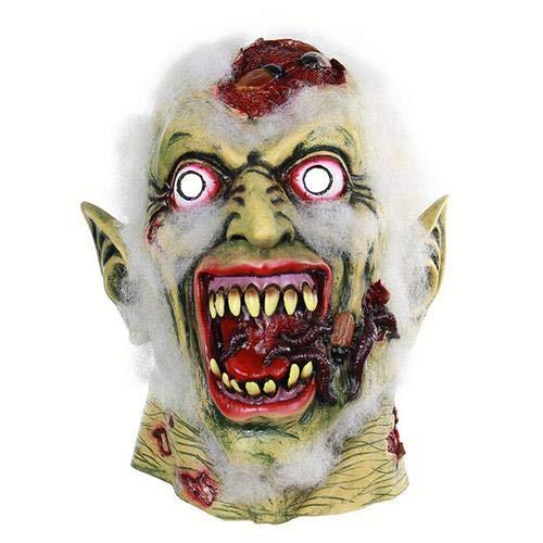 myonly Halloween Horror Clown Latex Maske Scary Ghost Cosplay Kopfbedeckung Mask Glow EL Draht Light up Masken Halloween Halloween Mask Scary