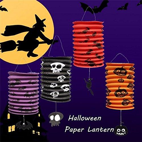 Bazaar Halloween Kürbis Schläger Muster Papierlaterne Party Dekorationen Yard hängen Dekor
