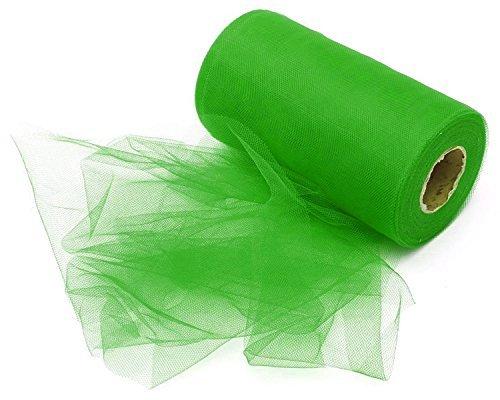 00FT) Tutu Tüll Stoff Rolle für Rock Petticoat Band Hochzeit Dekoration Schleife Geschenk durch trimmen Shop - Grün (Nylon Petticoats)