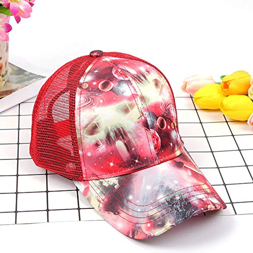 MAOZIJIE Druck-Baseballmütze-Großhandelssommer-Sonnenhut-Hysteresen-Hip-Hopkappen-Pferdeschwanz-Ineinander Greifen-Kappe Blinkender Stern