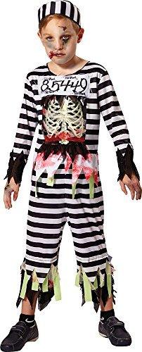 Junge Halloween Kostüm horror Party Kostüm Skelett Gefangene Outfit - Multi, (Kind Kostüme Gefangene)