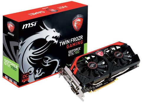 MSI GeForce GTX N780 TF 3GD5/OC 3072MB DDR5 PCI-E