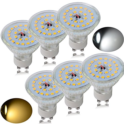 Jambo 10er Pack 7 Watt GU10 LED Lampen, Ersatz für 60W Halogenlampen, 560lm, Warmweiß, 3000K, 120° Abstrahwinkel, 230V AC SMD 2835 LED Spot Strahler [Energieklasse A+]