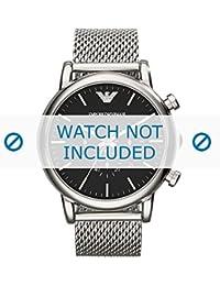Armani correa de reloj AR1808 Metal Plateado 22mm(Sólo reloj correa - RELOJ NO INCLUIDO!)