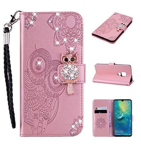 Qkldm Huawei Mate 20 Portefeuille Téléphone Stand Couverture avec Slots Carte de Crédit Flip étui de Protection Etui Coque pour Huawei Mate 20 Coque (1) par  Qkldm