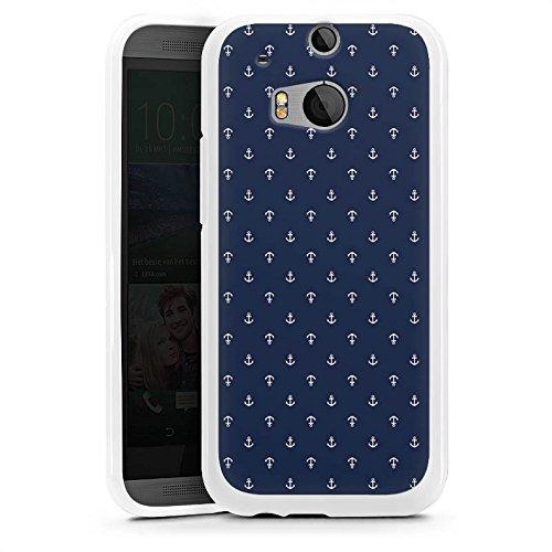 DeinDesign HTC One M8s Silikon Hülle Case Schutzhülle Anchor Anker Blue
