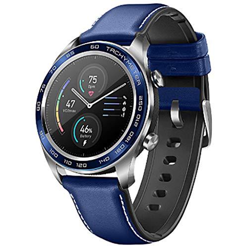 Liqiqi Huawei Honor Watch Magic Smart Uhr mit 3 cm (1,2 Zoll) AMOLED Farbdisplay, Schlaf Monitor Radfahren Schwimmen GPS Sport Fitness Armband ( Blau)