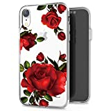 JIAXIUFEN Coque iPhone XR Silicone Coque Transparent TPU Gel Housse Etui Protection...