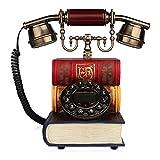 Telefon Vintage Handwerk Festnetz Home Wählscheibe Telefon Mechanischer Klingelton Festnetz Telefon 25 * 16 * 24cm (Farbe : A)