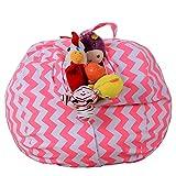 Sitzsack Kinder Stofftier Kuscheltiere Aufbewahrung Aufbewahrungstasche Soft Pouch Stoff Stuhl, Spielzeug Aufbewahrungstaschen mit reißverschluss (B)