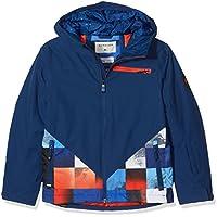 Quiksilver Suit Up Youth Jk Chaqueta para Nieve, Hombre, Azul (Mandarin Red Pattern_1), 10/M