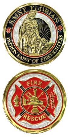Military Challenge Coins St  Florian Challenge Coin