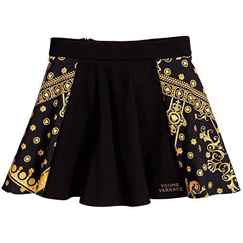 Young Versace - Gonna, Colore: Nero/oro Taglia: 10 Anni