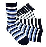 12 Paar Jungen Socken Kinder Strümpfe Kids Socks 90 % Baumwollsocken Gr. 27-30 verschiedene Farben und Motive (J01 27-30)