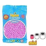 Hama Perles à Repasser Mini 2.5 mm Rose Pastel (n°48) x2000