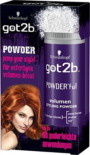 Schwarzkopf Got2b Powder ful volumen Styling Powder, 3er Pack (3 x 10 g)