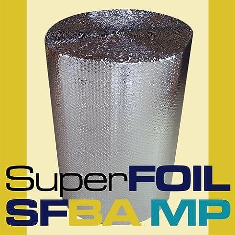 SFBA MP BUBBLE FOIL LOFT INSULATION ALUMINIUM 2 x FOIL 1 X BUBBLE 1500mm WIDE