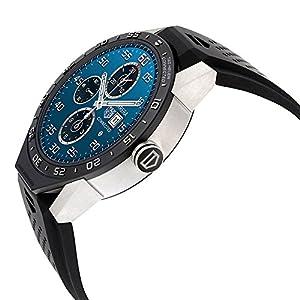 Reloj inteligente de pulsera para hombre, marca Tag Heuer Connected, modelo SAR8A80 FT6045; de titanio y caucho vulcanizado