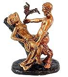 Erotik Wiener Bronze - Liebestoller Faun / Satyr verführt Jungfer - 2 teilig - Bergmann-Stempel - Erotische Bronze - Skupturen kaufen